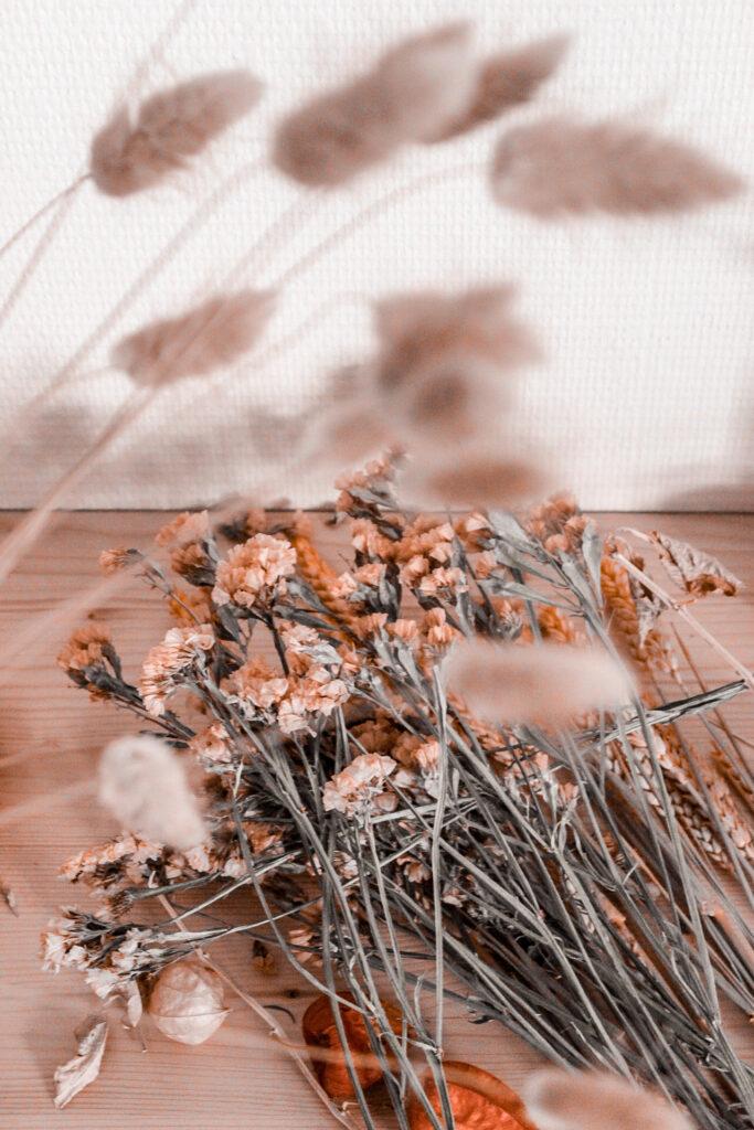 Indian summer etalage inspiratie: droogbloemen